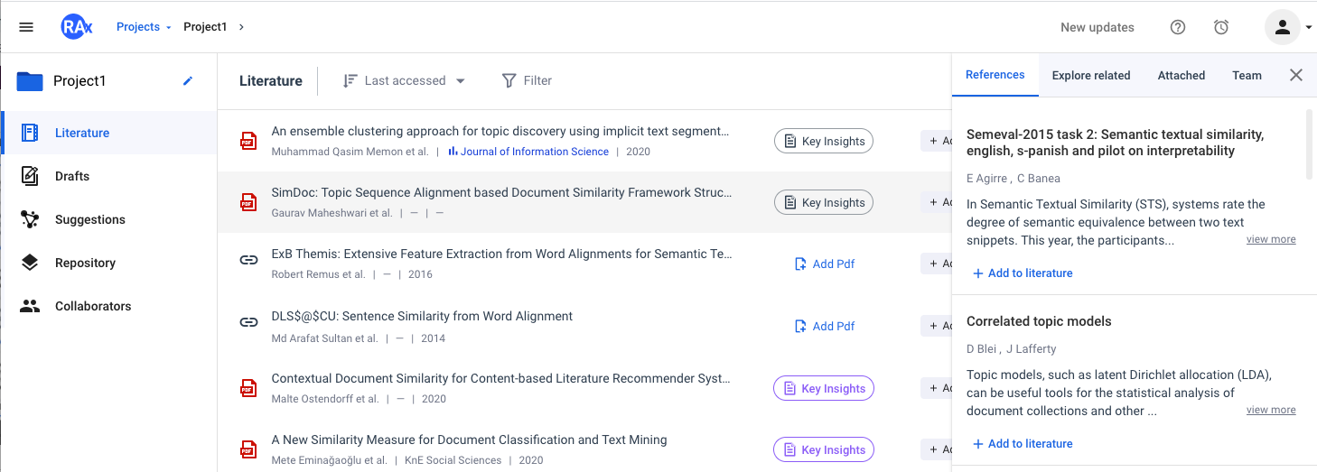 Quick view references, explore related resources, attachments and discussions