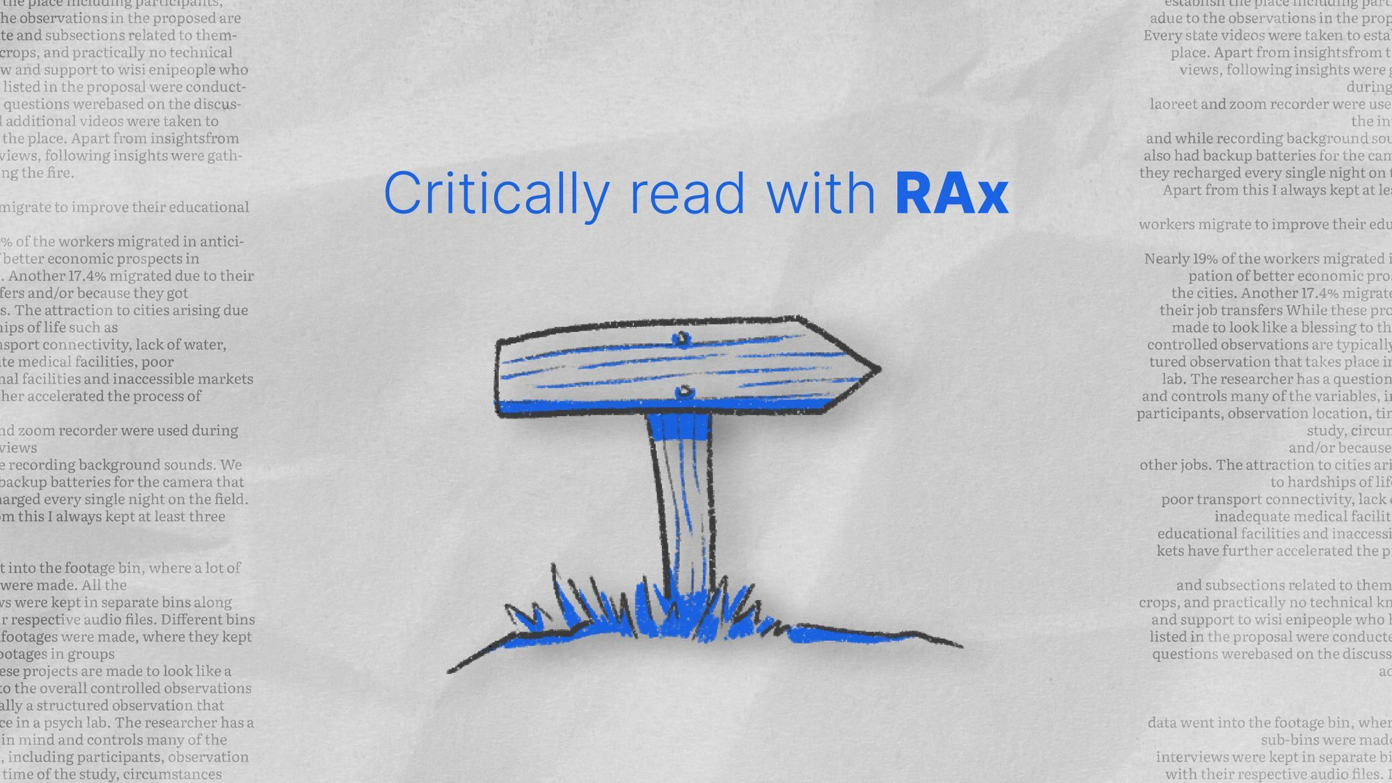 How to critically read a research paper with RAx
