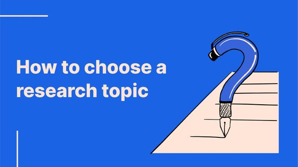 Workshop: How to choose a research topic
